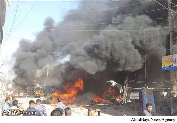 انفجار خودروی بمب?گذاری شده در بغداد + عکس