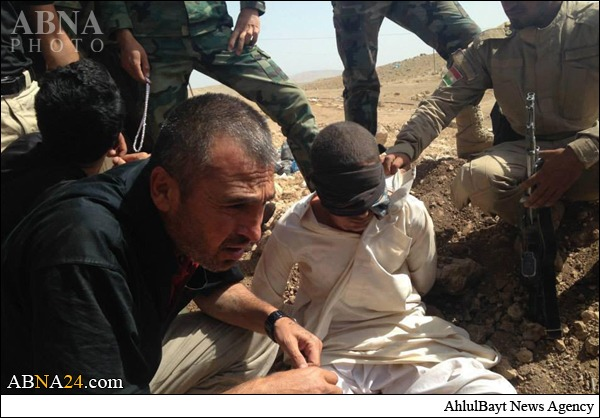 داعشی اسیر شده توسط پیشمرگه+عکس