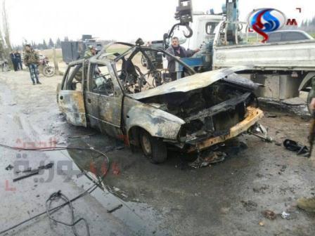 خودرویی که در زینبیه منفجر شد +عکس