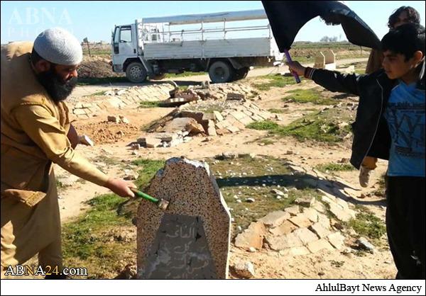 921241 834 تخریب قبرستانی در کرکوک توسط داعش