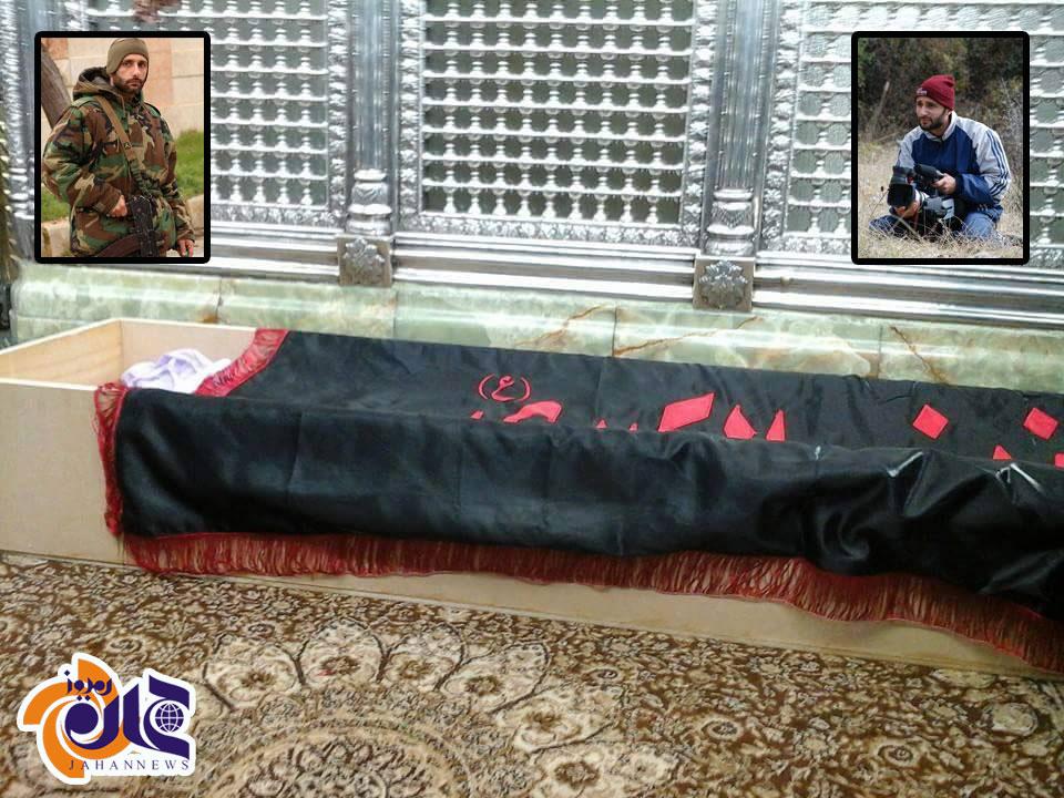 عکس/خداحافظی هنرمندِ مسلح از «حضرت زینب(س)»