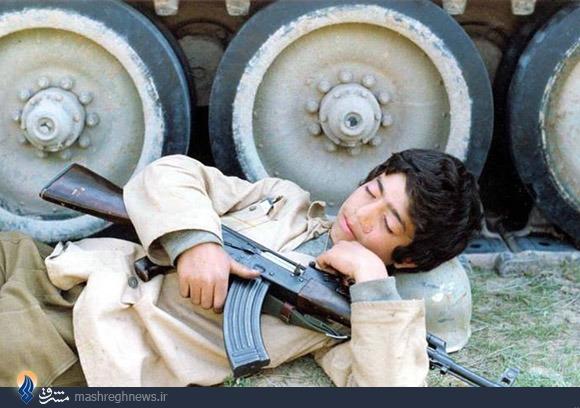 عکس/خواب عمیق قبل از شهادت