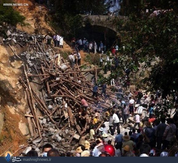 ریزش پل در چین 11 کشته داد
