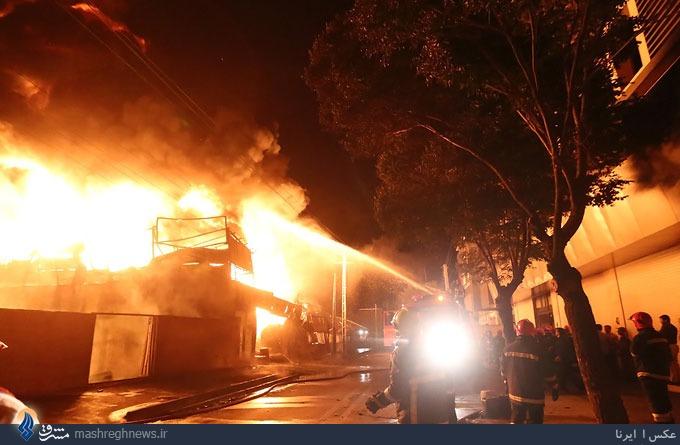 آتش سوزی کارخانه روغن پس از 8 ساعت مهار شد