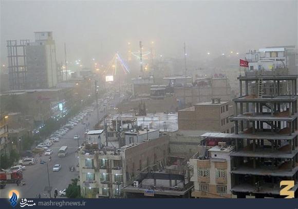 گرد و غبار شدید در کربلا +تصاویر