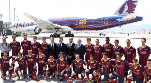هواپیمای اختصاصی جدید بارسلونا +عکس