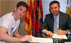 قرارداد جدید مسی با بارسلونا امضا شد/ مسی پردرآمدترین بازیکن جهان شد