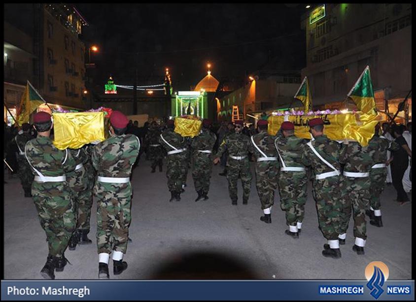 عکس / آخرین وداع «مدافعان حرم» از فرمانده