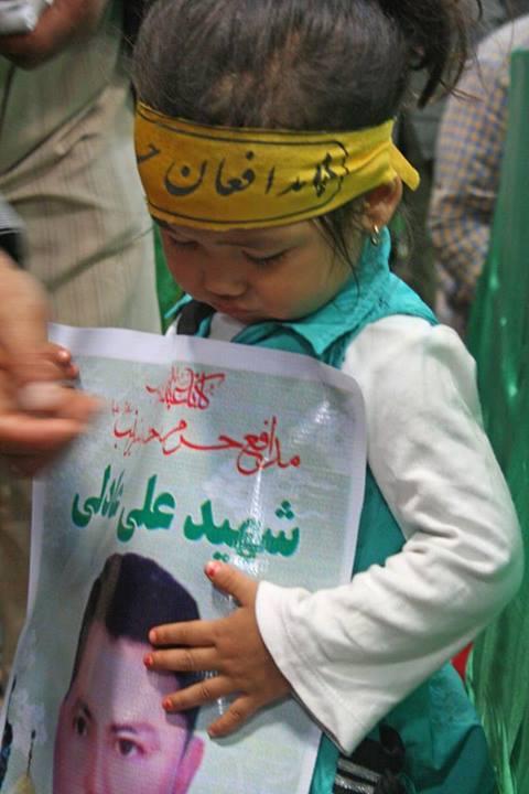 عکس/دختر شهید افغانی مدافع حرم