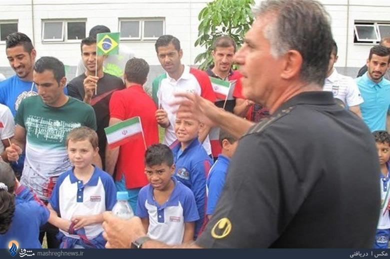 استقبال برزیلیها از تیمملی ایران +تصاویر