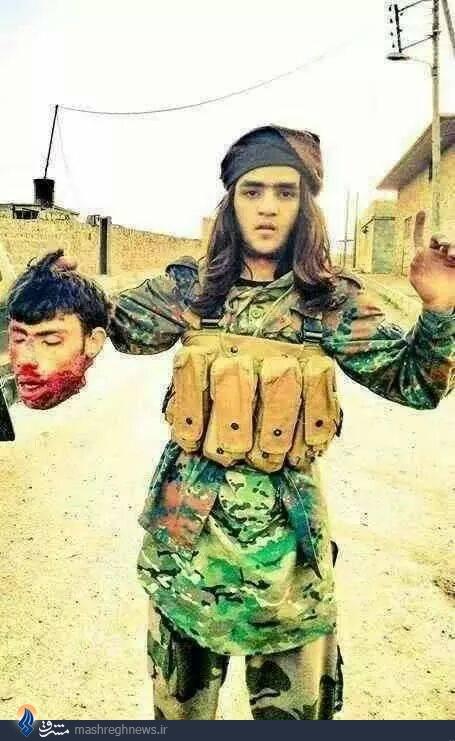 عکس/نوجوان داعش هم ذبح میکند (+18)