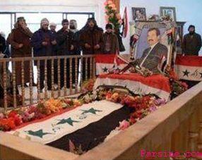 عکس/ بازگشایی قبر صدام توسط داعش