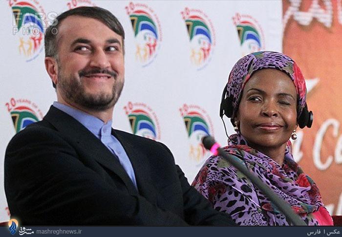 عکس/ چشمک وزیر امور خارجه آفریقای جنوبی