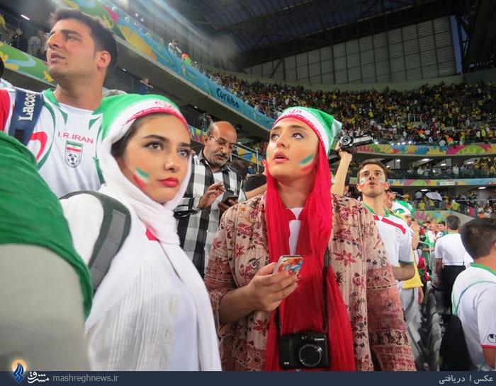 عکس/ نرگس محمدی و لیندا کیانی در ورزشگاه