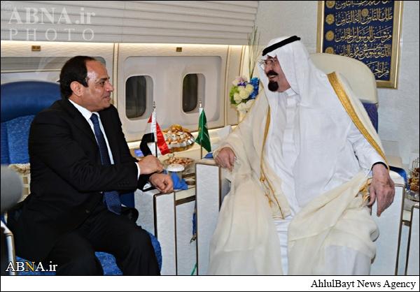 دیدار پادشاه عربستان با السیسی+عکس