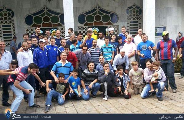 بازیکنان بوسنی در نماز جمعه برزیل +عکس