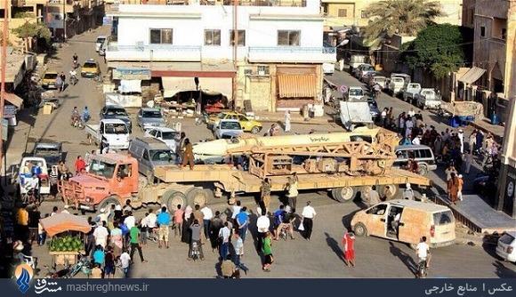 رژه داعش با «اسکاد» از کار افتاده +عکس