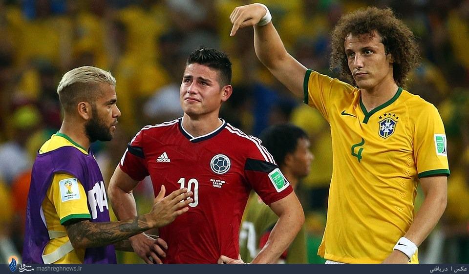 حرکت زیبای دو بازیکن برزیل +عکس