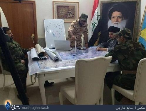 عکس/مقتدى صدردر حال فرماندهي نیروهایش در سامراء