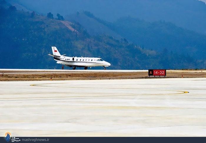 عکس/ فرودگاهی روی قله کوه