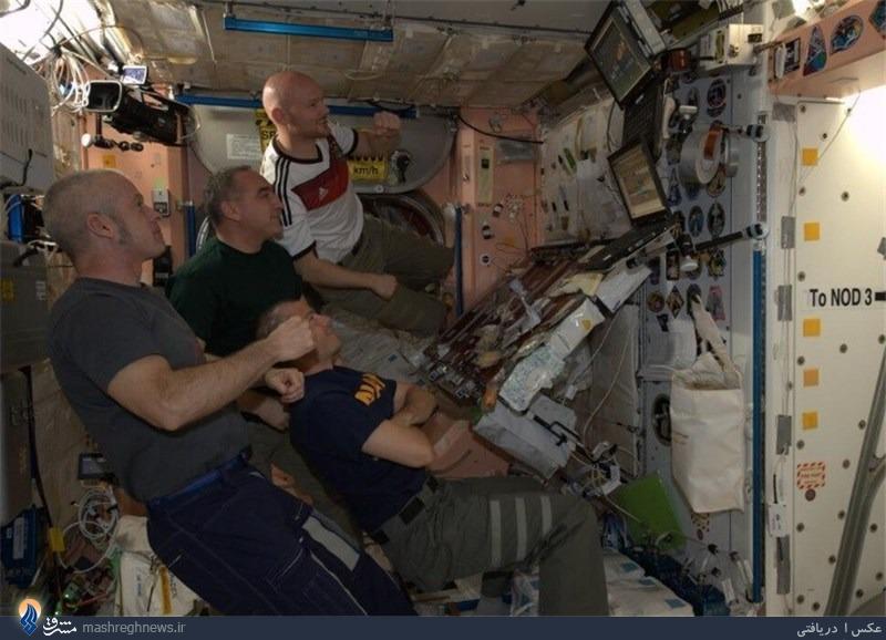 کارکنان «ناسا» از فضا شاهد قهرمانی ژرمنها + عکس
