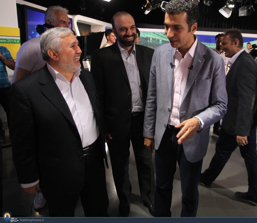 عکس/ بازدید دارابی از برنامه فردوسی پور