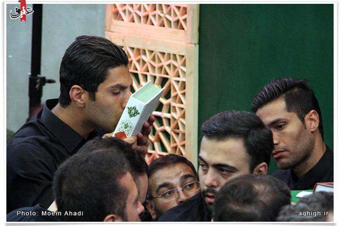 عکس/دو فوتبالیست در مراسم شب قدر