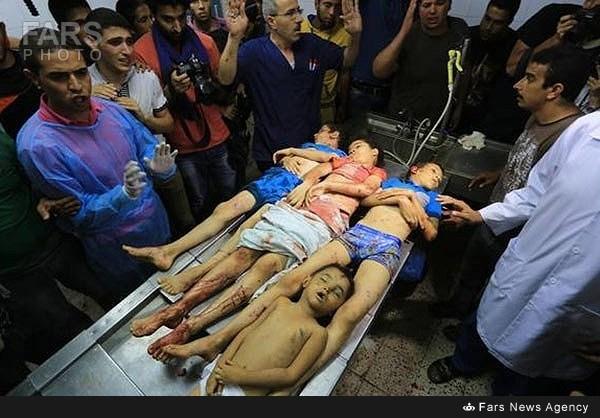 جنایت صهونیستها در غزه
