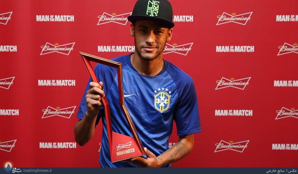 دومین جایزه نیمار در جام بیستم +عکس