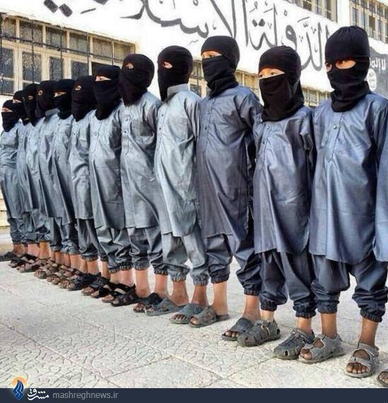 عکس/کودکان در صف عملیات انتحاری داعش