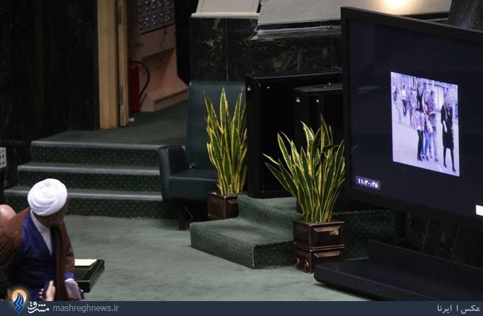 عکس دختر بدحجاب در مجلس