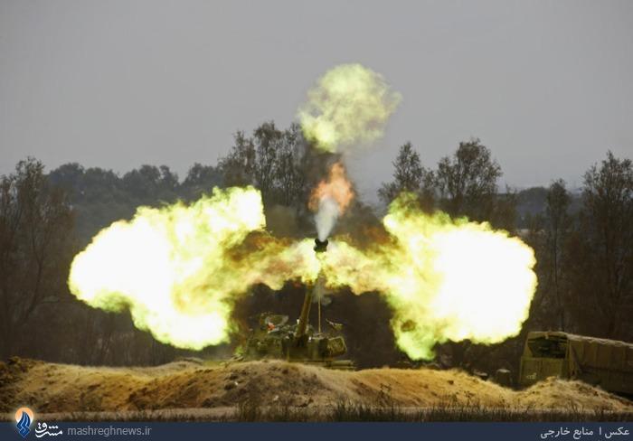 ادامه حملات توپخانه ای رژیم صهیونیستی به نوار غزه در وضعیت آتش بس!