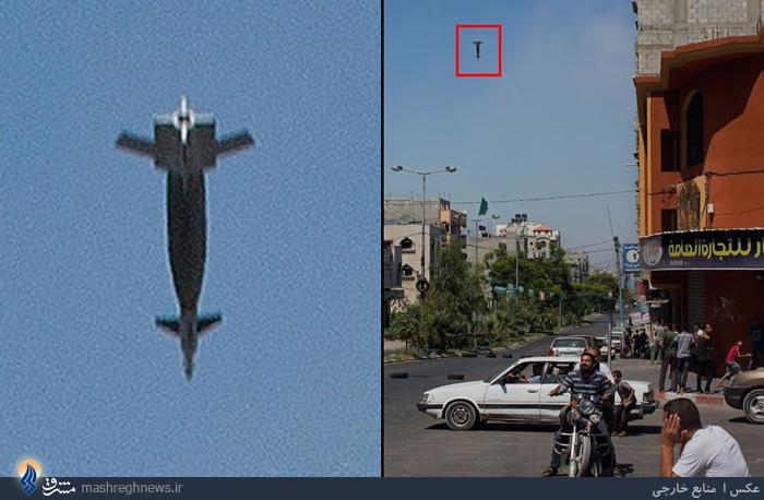 لحظه سقوط یکی از موشک های اسرائیلی به غزه