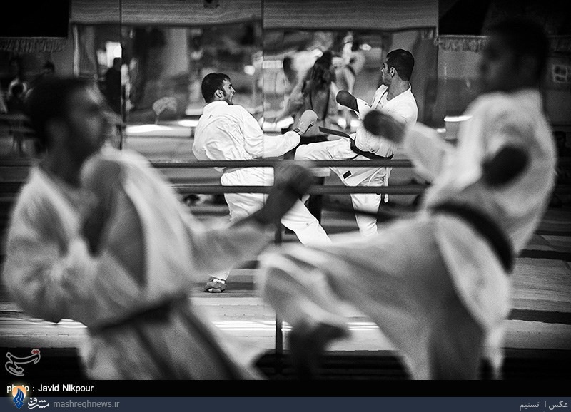 عکس/ تصویر در تصویر از نوع کاراته!