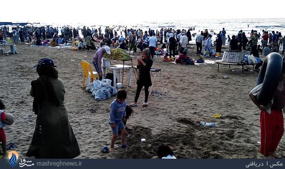 هجوم به دریا+تصاویر