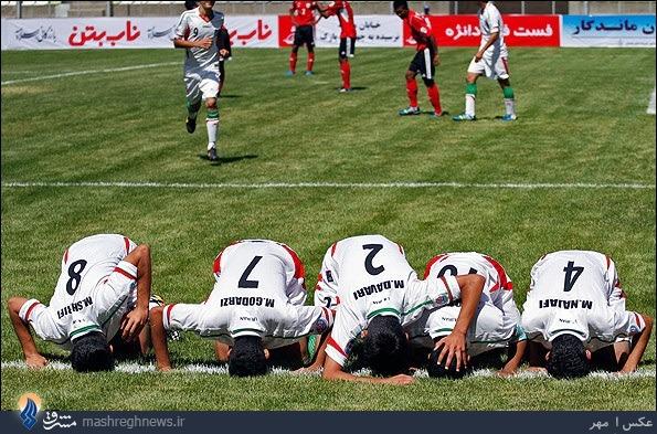 عکس/ یک شادی قشنگ در فوتبال