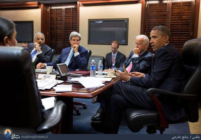 عکس /جلسه اتاقفکر اوباما برای حمله بهداعش