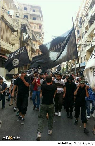 راهپیمایی هواداران داعش در طرابلس+عکس
