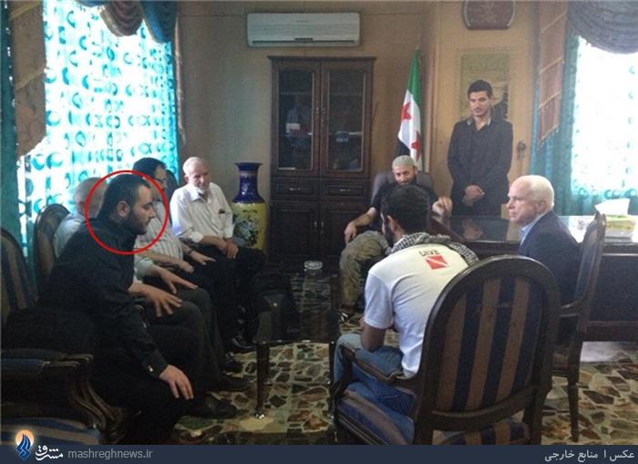 عکسی از سناتور مک کین با ابوبکر بغدادی