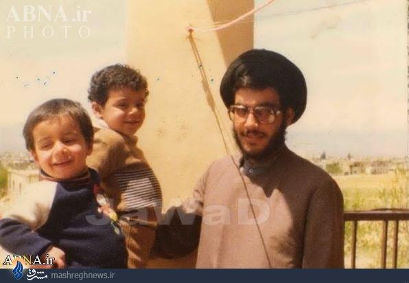 تصویری نادر ازسیدحسننصرالله و فرزندانش