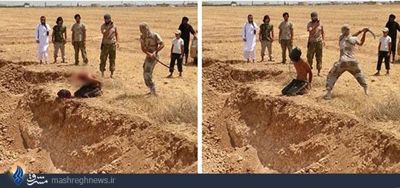 قطع سر با شمشیر توسط داعش+عکس