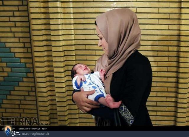 تولد اولین نوزاد حاصل از لقاح مصنوعی+عکس