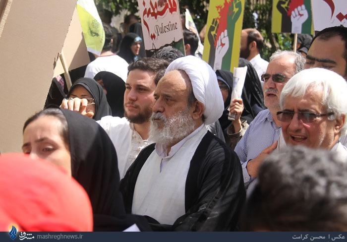 عکس/ شیخ حسین انصاریان در راهپیمایی