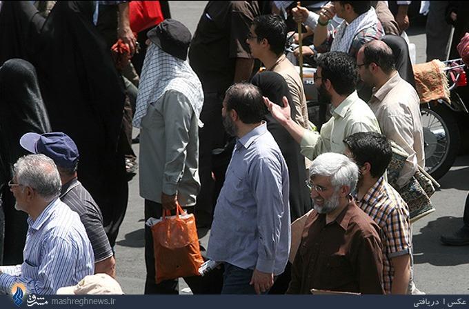 عکس/جلیلی در راهپیمایی روز قدس