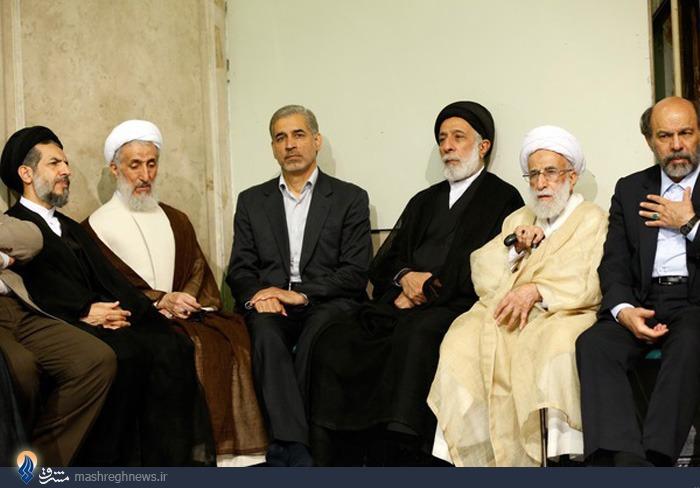 عکس/سیدهادی خامنهای در دیدار امروز رهبری