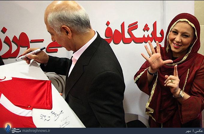 عکس/ کریخوانی بهنوش بختیاری برای استقلال