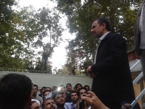 عکس/حضور احمدینژاد در جمع اعضای هما