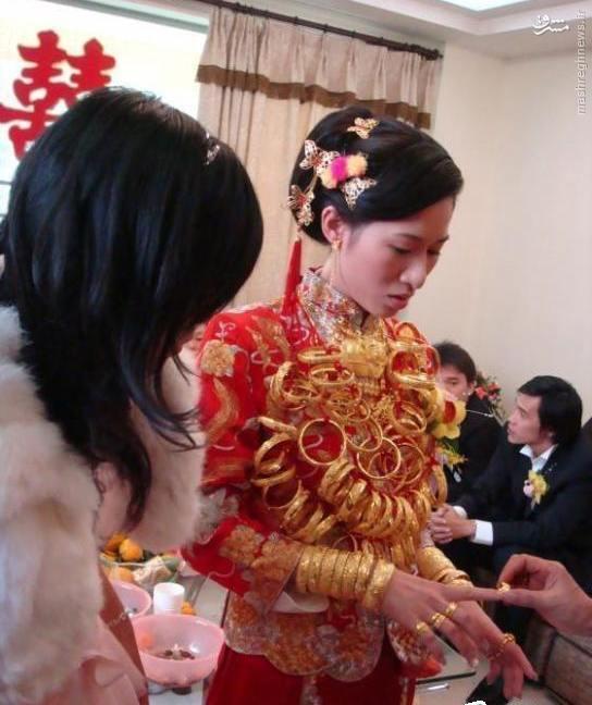 عروس هایی با چند کیلو طلا