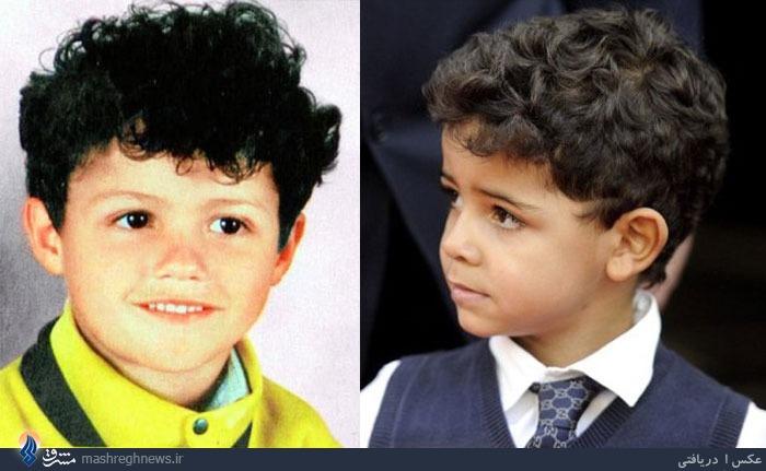 عکس/ شباهت کودکی رونالدو با پسرش