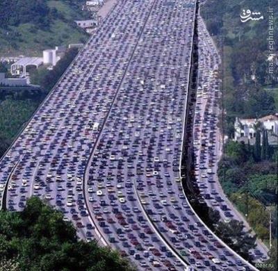 عکس/ترافیکی که کشته برجا گذاشت
